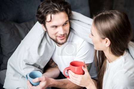 Couple drinking tea