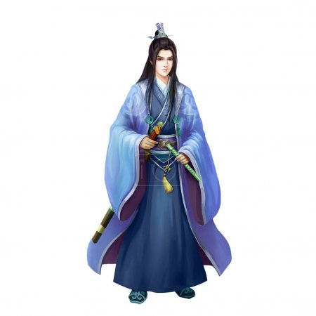 Ancient Chinese People Artwork: Pretty Young Man, GentleMan, Handsome Swordsman
