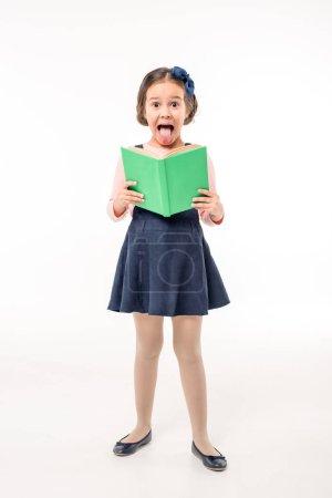 Schoolgirl holding book