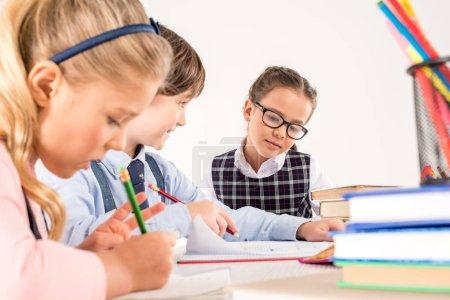 Classmates preparing for lesson