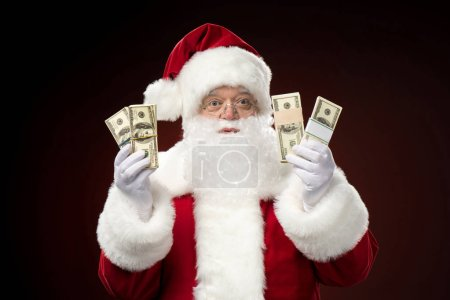 Santa Claus with dollars