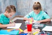 Cute children drawing
