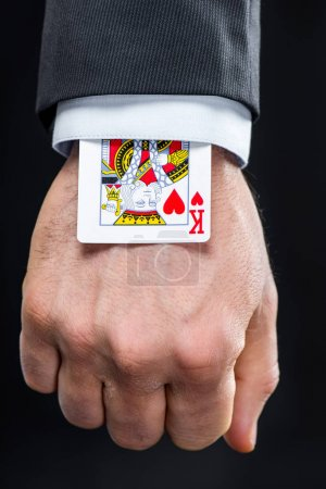 King of hearts in sleeve