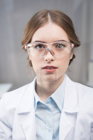 Professional female scientist