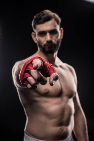 Boxer with wrapping hand
