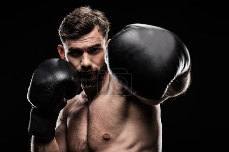 Sportsman in boxing gloves
