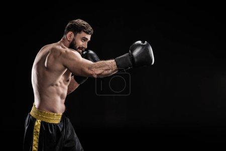 Sportsman in boxing gloves