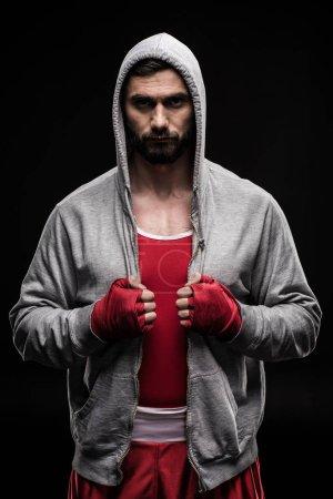 Confident box fighter