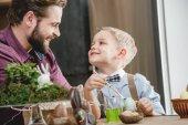 Otec a syn, příprava na Velikonoce