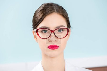 Attractive woman in glasses