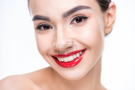 Woman with juicy red lips