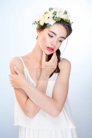 Young woman in dress