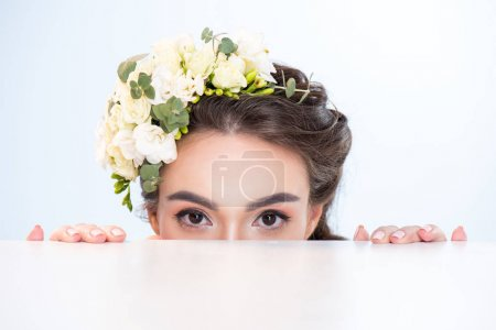 Woman with flowers in hair