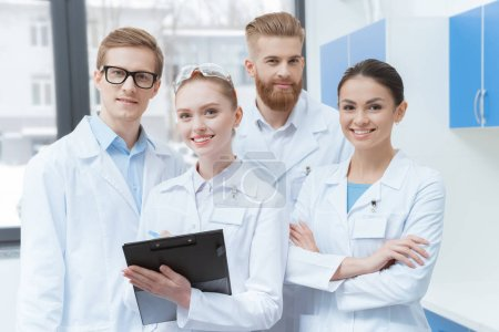 Team of young scientists