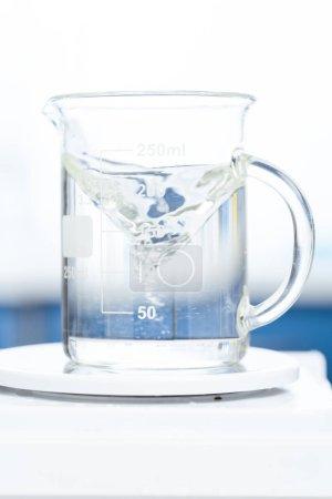 Chemical liquid in glassware