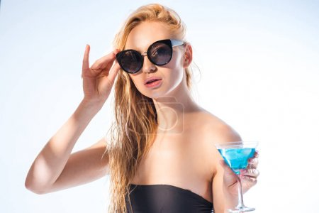 Woman with cocktail drink