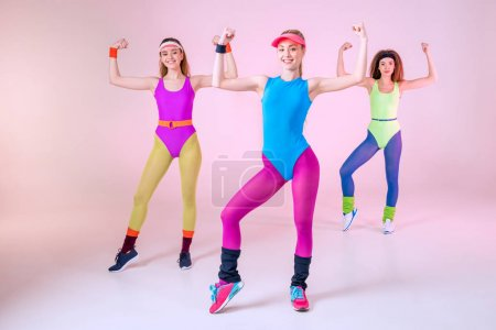 Women in fitness clothing
