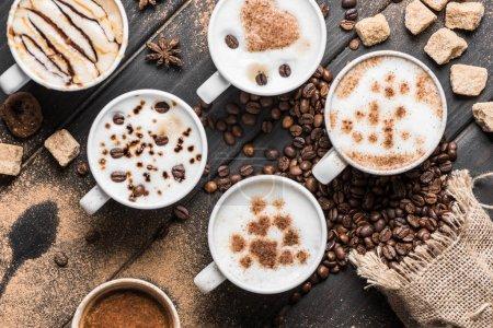 Cups of fresh made coffee
