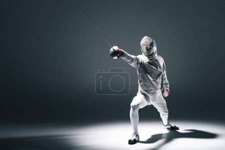 Professional fencer with rapier
