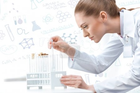 Woman scientist working at laboratory