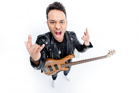 Rocker with electric guitar