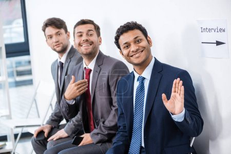 Businessmen waiting for interview
