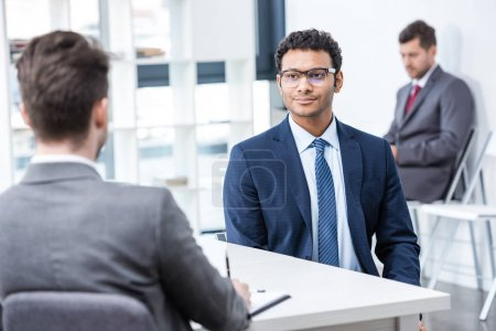 Businessmen at job interview