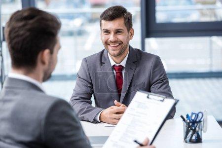Businessmen at job interview