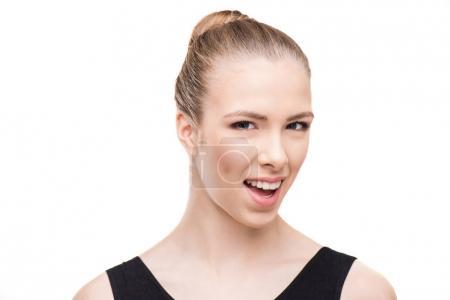 Caucasian smiling woman