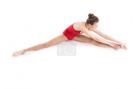 Stretching rhythmic gymnast