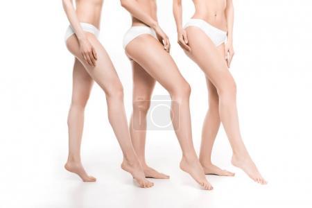 Women in white underwear