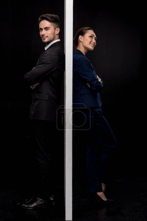 Couple separated by wall