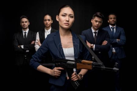 Businesspeople ready to fight