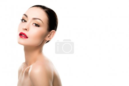 Sensual girl with red lips