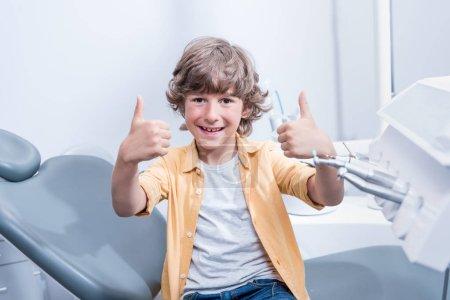 Boy in dental clinic