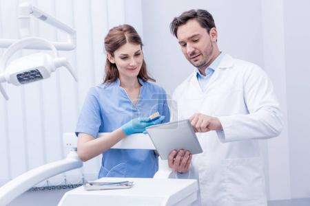 Dentists working in clinic