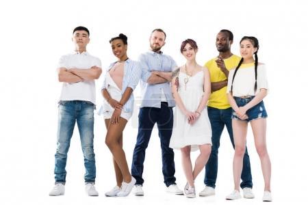 Confident multiethnic people