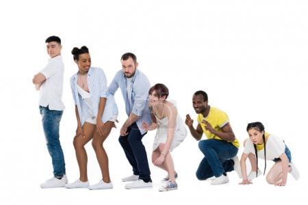 Multiethnic people gesturing and posing
