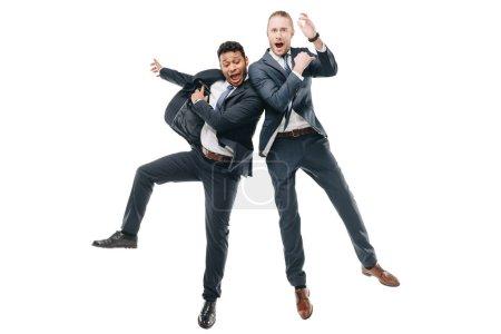 Happy multiethnic businessmen