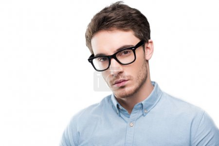 Handsome man in eyeglasses