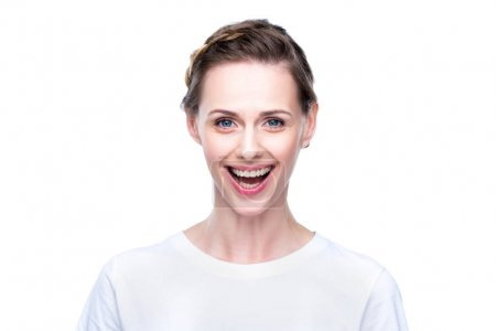 beautiful excited woman