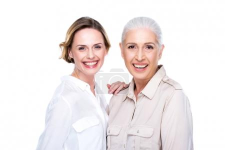 Attractive adult daughter and mother