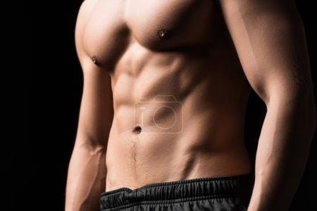 Shirtless muscular man