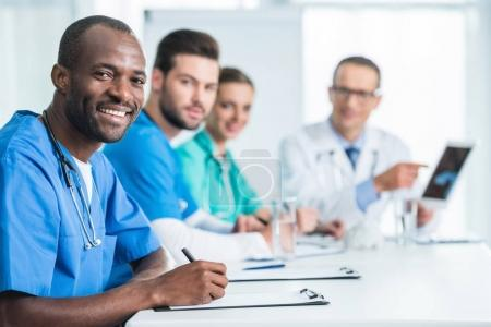 Team of doctors having conversation