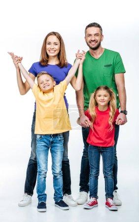 Family having fun and looking at camera