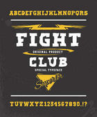 FIGHT CLUB Hand crafted typeface design
