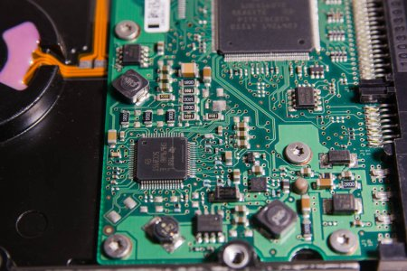 Photo for Electronic scheme, computer chip of the chip, phone - Royalty Free Image