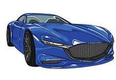 blue color sport car mazda  vector editable illustration  Separate on white background  Different super cars in all colors inside my profile