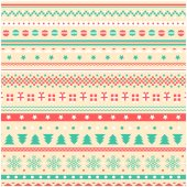 Pattern of geometric Christmas elements