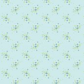 Classic Vintage Blue Flower Pattern in Blue Background.Vector Illustration